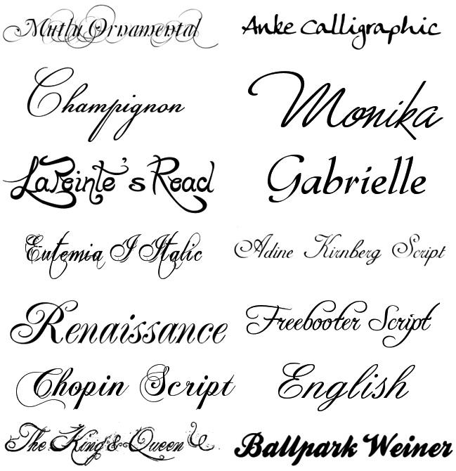 Шрифты для элегантных сайтов шрифты